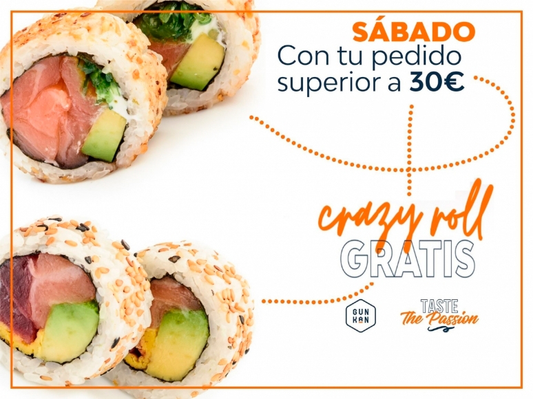 1-CRAZY ROLL pedidos superiores a 30€